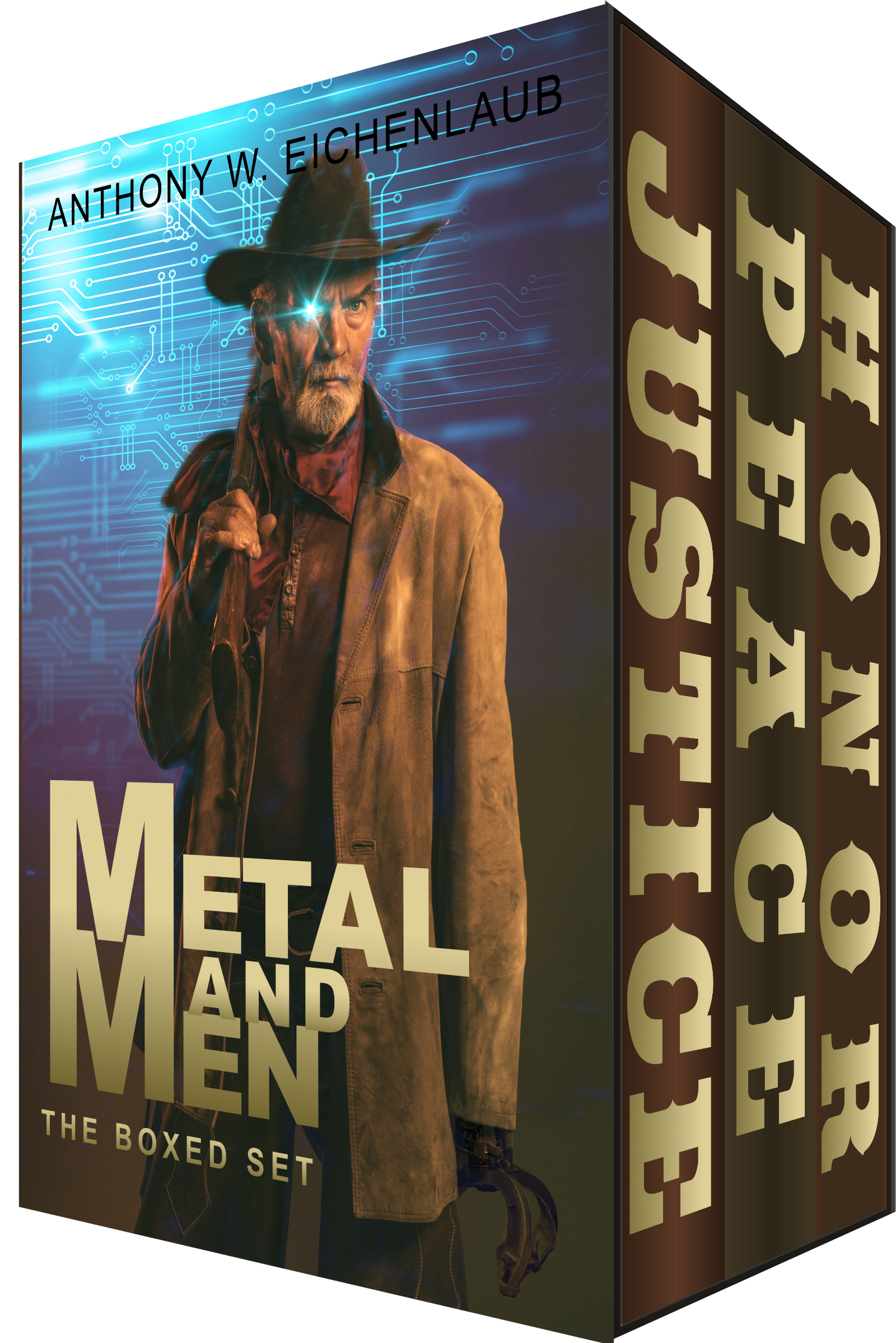A book box with cowboy on the front