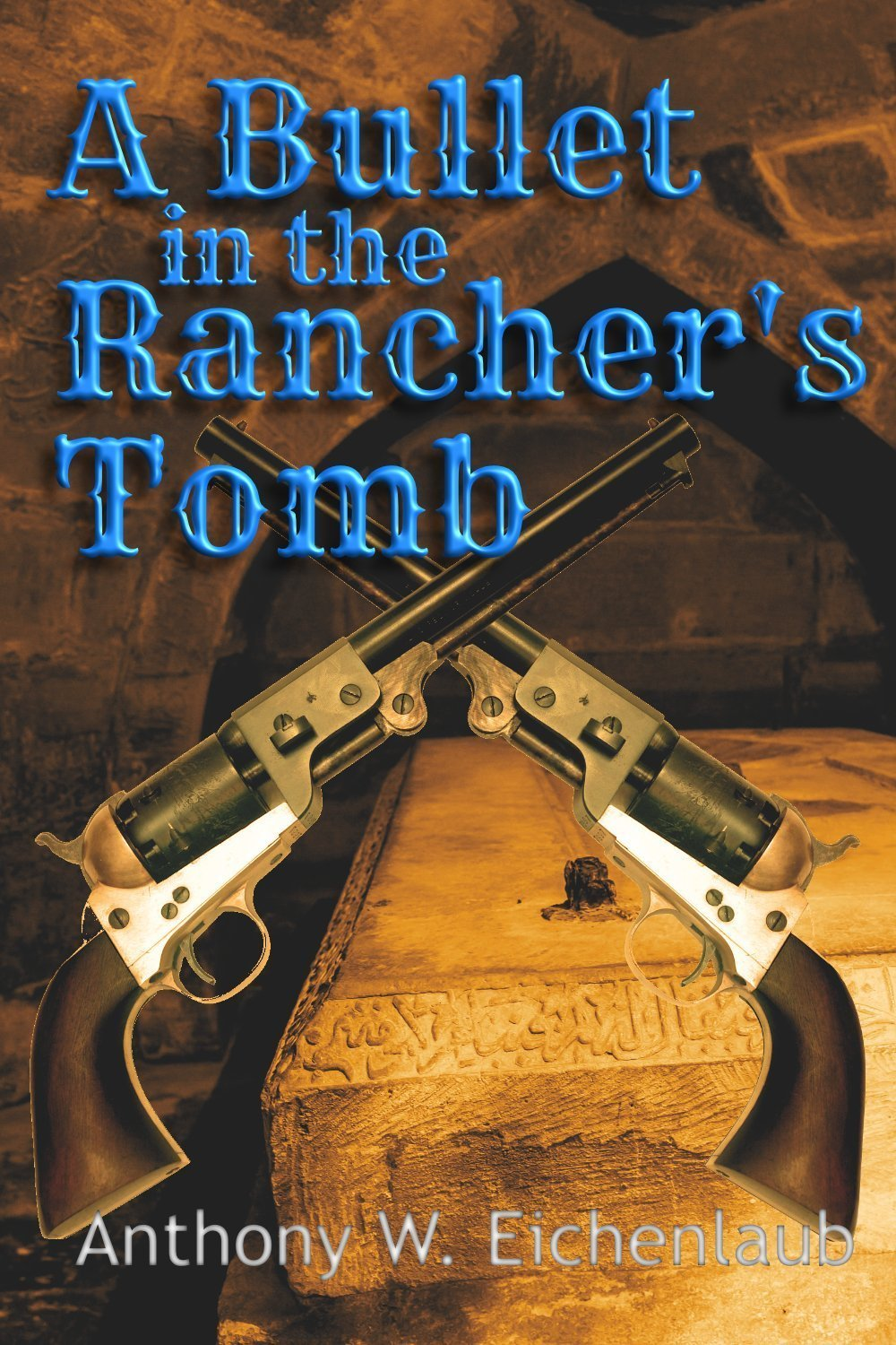Two revolvers in a tomb